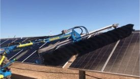 Remove dust and grime from solar panel farms