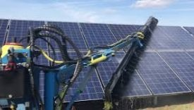 Tractor Mounted Solar Panel Cleaning Arm